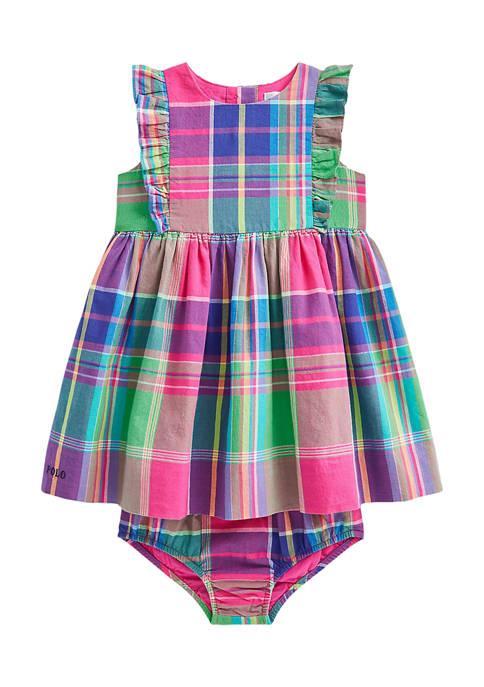 Ralph Lauren Childrenswear Baby Girls Madras Dress &