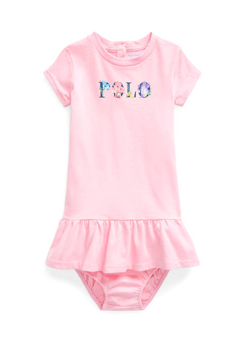 Ralph Lauren Childrenswear Baby Girls Floral-Logo Cotton Jersey