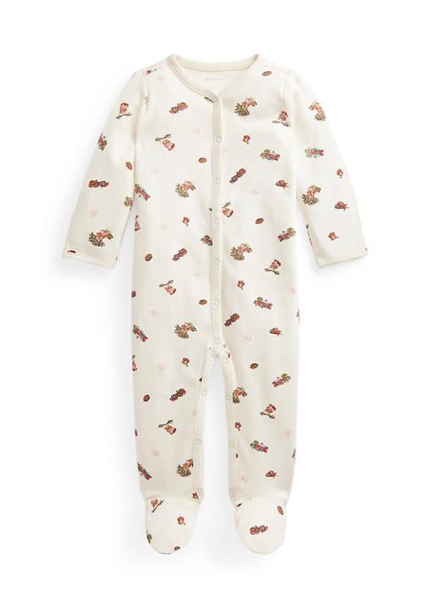 Ralph Lauren Childrenswear Baby Girls Polo Bear Interlock