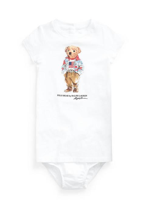 Ralph Lauren Childrenswear Baby Girls Polo Bear Jersey