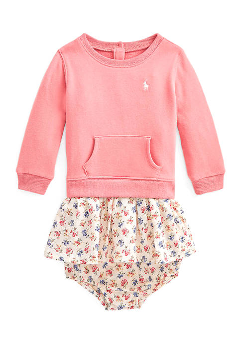Ralph Lauren Childrenswear Baby Girls Floral-Skirt Dress &