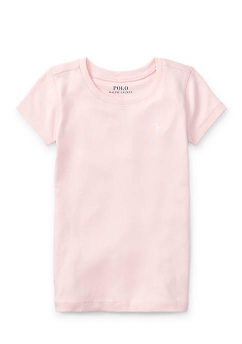 Ralph Lauren Childrenswear Cotton-Blend Crewneck T-Shirt Toddler