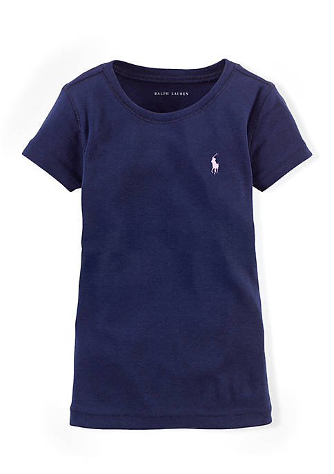Ralph Lauren Childrenswear Cotton-Blend Crewneck T-Shirt Toddler