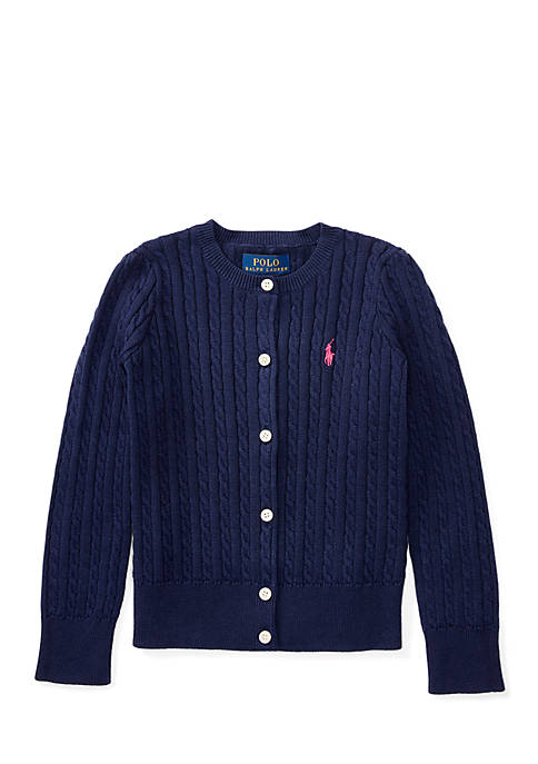 Ralph Lauren Childrenswear Cable-Knit Cotton Cardigan Toddler