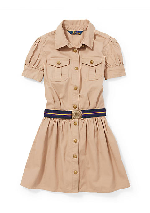 Ralph Lauren Childrenswear BSR 16 CHINO SHIRTDRESS KHAKI