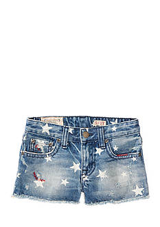 Ralph Lauren Childrenswear Star-Print Denim Short Toddler Girls