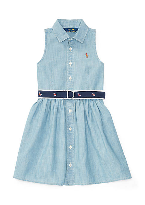 Ralph Lauren Childrenswear Cotton Chambray Shirtdress Toddler