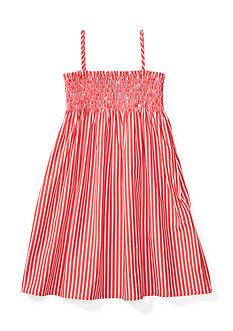 Ralph Lauren Childrenswear Striped Sleeveless Dress Toddler Girls