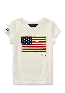 Washed Cotton Graphic Tee Toddler Girls