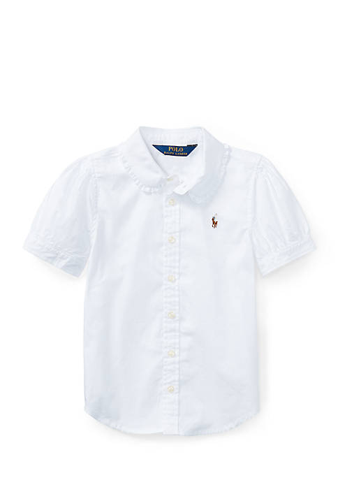 Ralph Lauren Childrenswear Cotton Oxford Shirt Toddler Girls