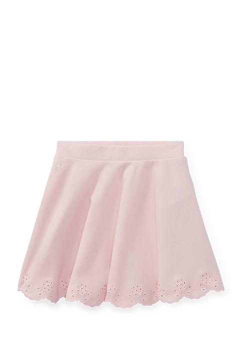 Ralph Lauren Childrenswear Scalloped Ponte Pull-On Skirt Toddler