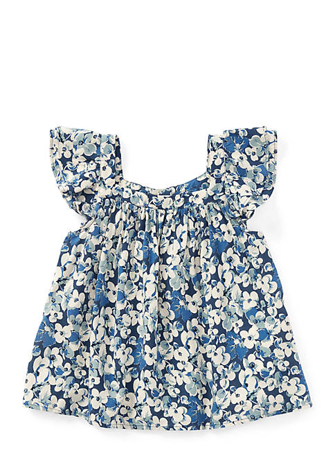 Ralph Lauren Childrenswear Girls Toddler Floral Flutter-Sleeve