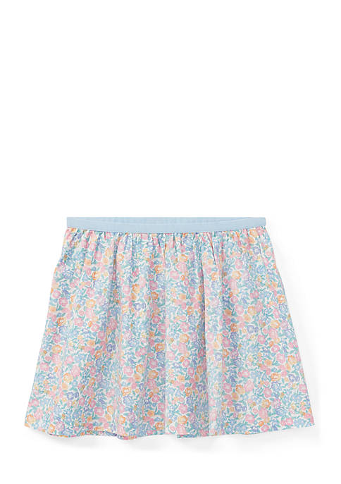 Ralph Lauren Childrenswear Floral Cotton Pull-On Skirt Toddler