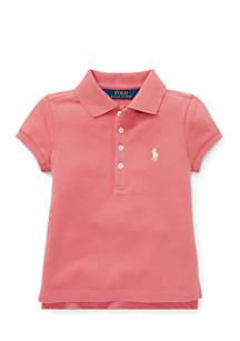 Toddler Girls Stretch Pique Polo Shirt