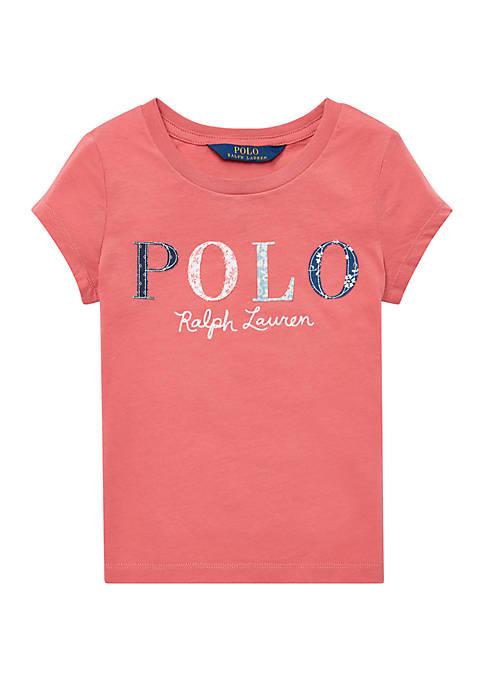 Ralph Lauren Childrenswear Toddler Girls Floral Polo Jersey