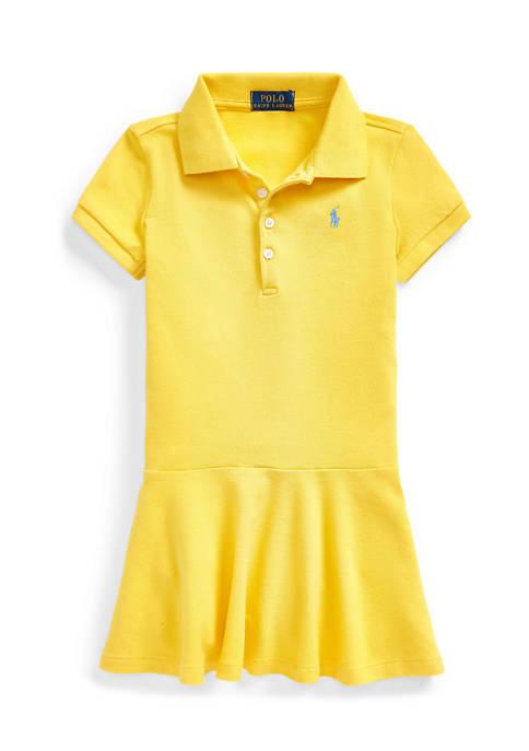 Toddler Girls Stretch Piqué Polo Dress