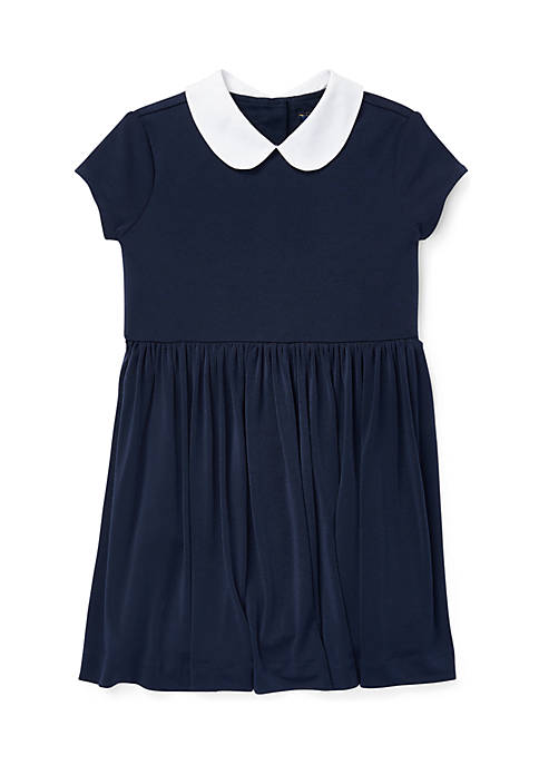Toddler Girls Crepe Fit-and-Flare Dress