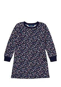 Toddler Girls Atlantic Multi Floral Terry Dress