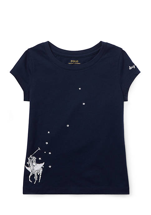 Polo Ralph Lauren Toddler Girls Embroidered Graphic T-Shirt