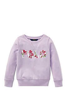 Toddler Girls Polo Atlantic Terry Pullover