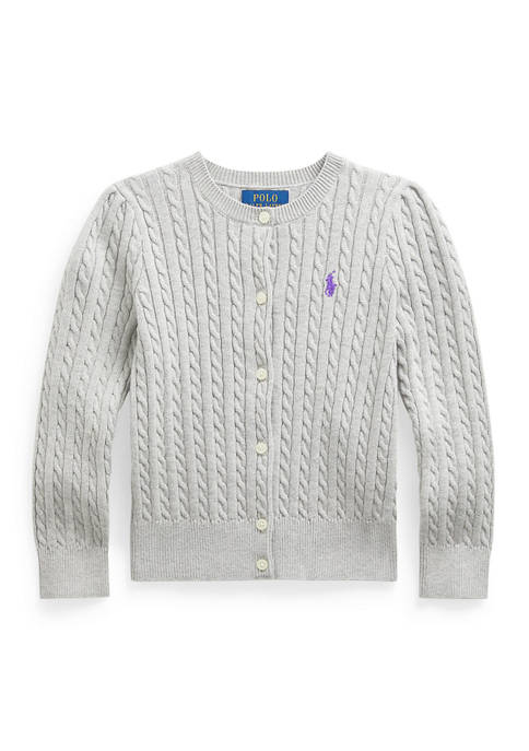 Ralph Lauren Childrenswear Toddler Girl Cable-Knit Cotton