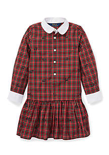 Ralph Lauren Childrenswear Toddler Girls Plaid Poplin Dress