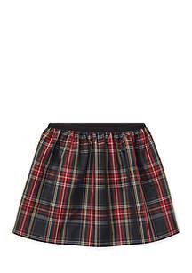 Toddler Girls Tartan Plaid Pull-On Skirt