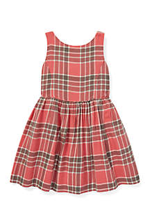 Toddler Girls Plaid Fit-and-Flare Dress
