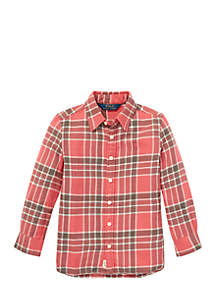 Toddler Girls Plaid Tunic Shirt
