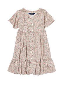 Toddler Girls Floral Woven Dress