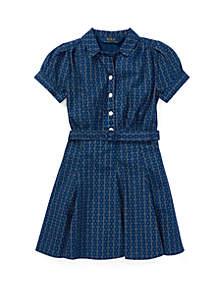 Toddler Girls Print Cotton Poplin Dress