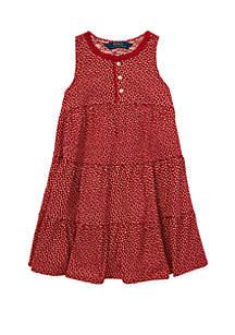 Toddler Girls Floral Cotton Jersey Dress
