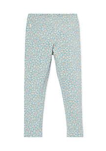 Toddler Girls Floral Jersey Legging