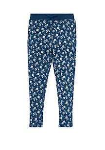 Toddler Girls Floral Cotton Terry Pant
