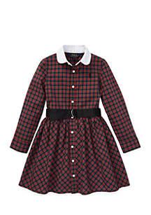 Toddler Girls Plaid Poplin Shirtdress