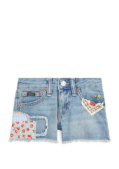 Ralph Lauren Childrenswear Toddler Girls Distressed Cotton Denim