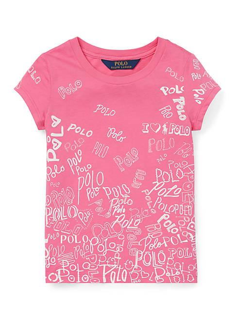 Ralph Lauren Childrenswear Toddler Girls Polo Cotton Jersey Graphic ... b8a737dd3
