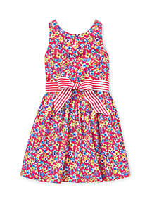 Ralph Lauren Childrenswear Toddler Girls Floral Fit and Flare Dress