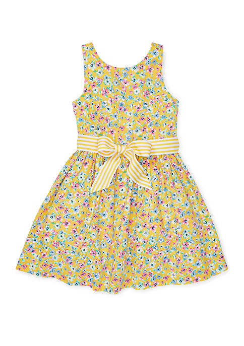 Toddler Girls Floral Fit-and-Flare Dress