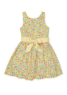 Ralph Lauren Childrenswear Toddler Girls Floral Fit-and-Flare Dress