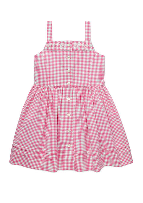 Ralph Lauren Childrenswear Toddler Girls Gingham Cotton Dress