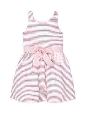 Ralph Lauren Childrenswear Toddler Girls Striped Fit and Flare Dress ... 0afef0ab7