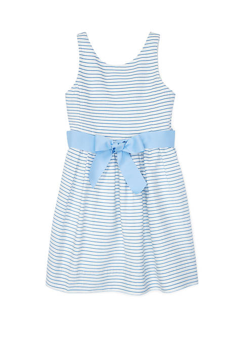 Toddler Girls Striped Fit and Flare Dress
