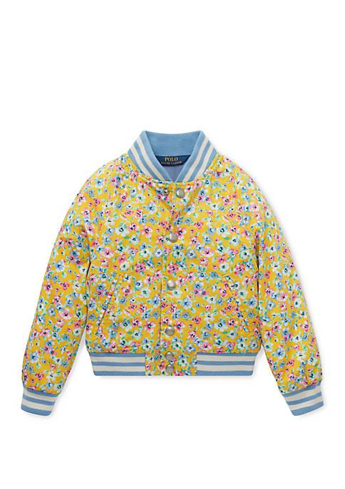 Ralph Lauren Childrenswear Toddler Girls Floral Baseball Jacket