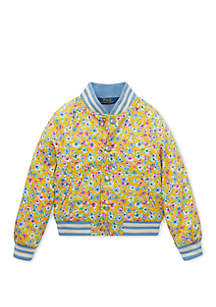Ralph Lauren Childrenswear Toddler Girls Floral Baseball Jacket