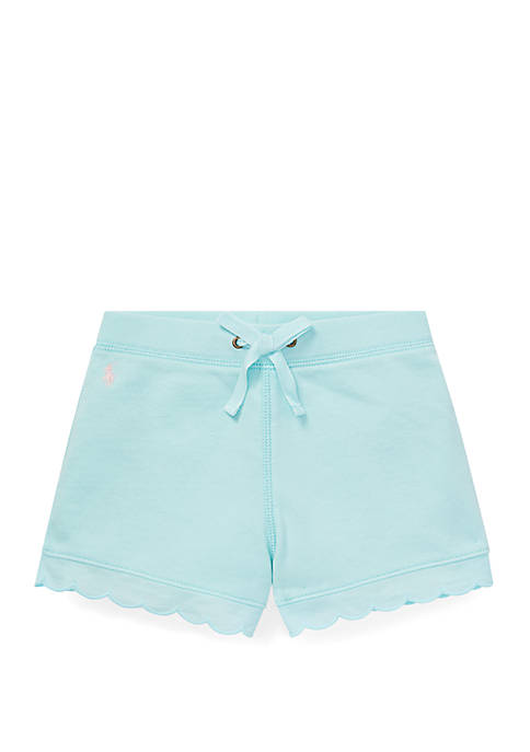 Toddler Girls Scallop Trim French Terry Shorts