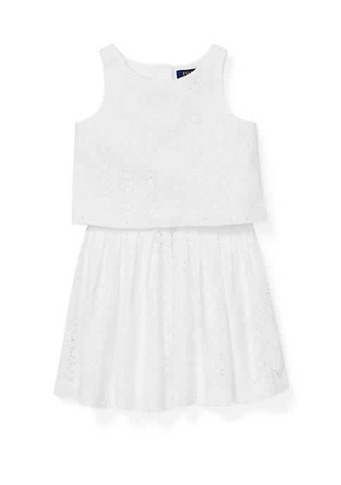 Toddler Girls Eyelet Top and Skirt Set
