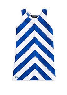 Ralph Lauren Childrenswear Toddler Girls Chevron Stretch Ponte Dress