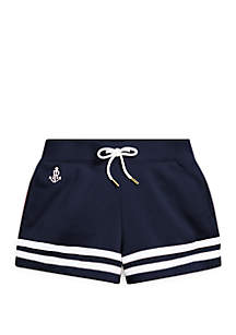 Ralph Lauren Childrenswear Toddler Girls Striped French Terry Shorts