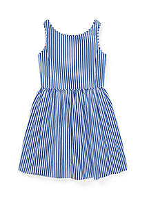 Ralph Lauren Childrenswear Toddler Girls Bengal Stripe Cotton Dress